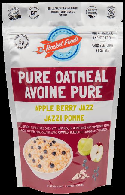 Rocket Foods - Allergen Free Oatmeal, Gluten Free Oatmeal, Instant
